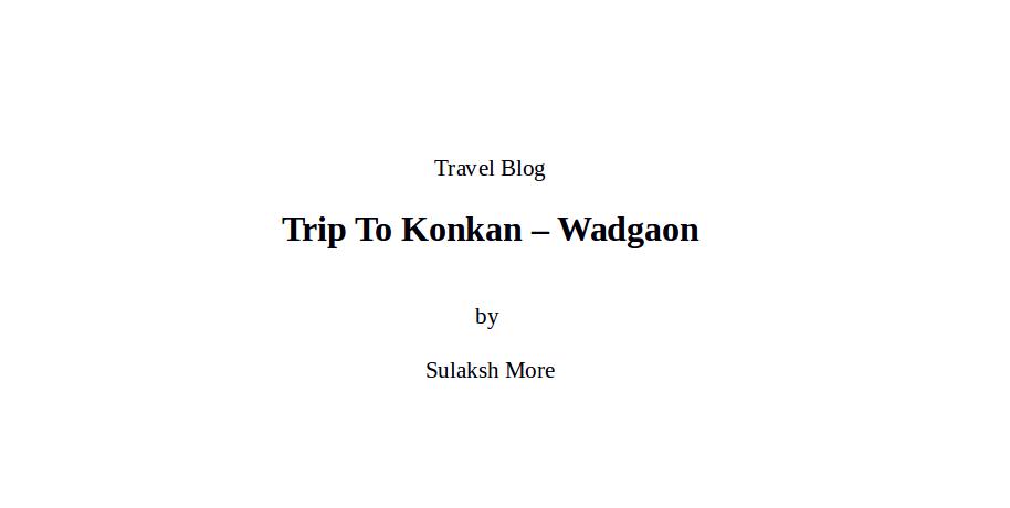 Sulaksh More Travel Blog